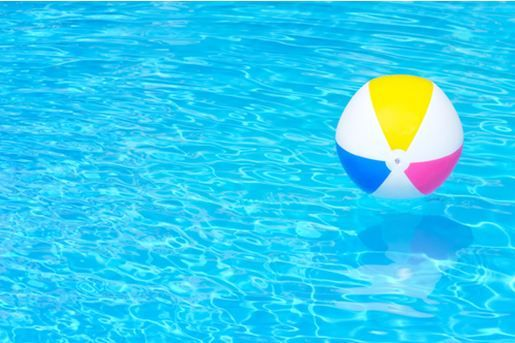 Beach Ball In Pool Laws Swimming On Design