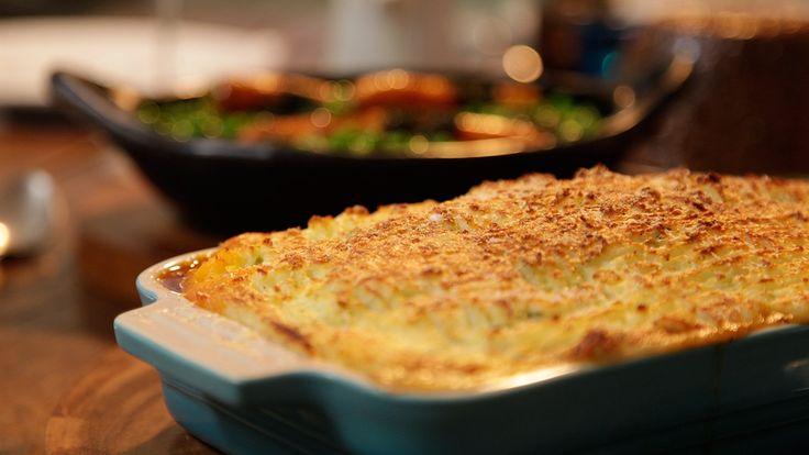 PASTEL de carne irlandés con gratinado de queso. GORDON RAMSAY