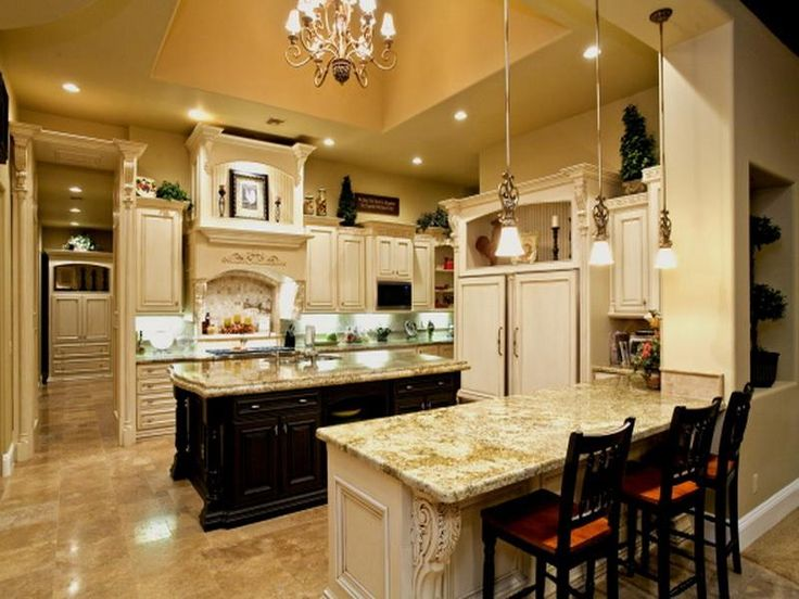 220 best images about the party always ends up in the for Gourmet kitchen islands