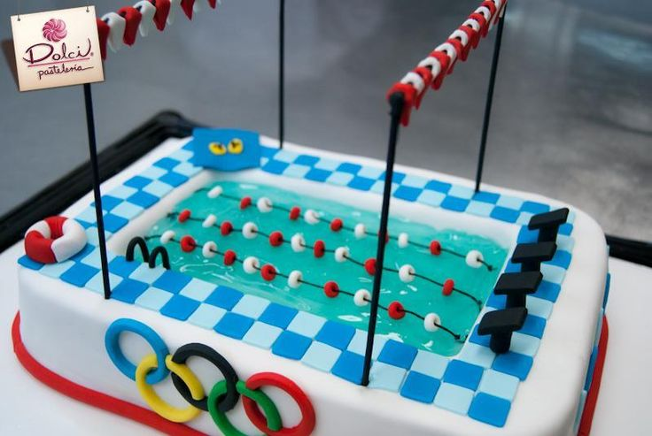 Looking for cake decorating project inspiration? Check out Swimming Pool Cake by member Dolci Pasteleria.