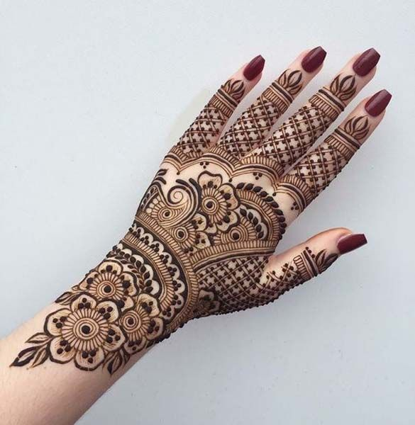 Stunning Back Hand Henna Designs to Captivate Mehndi Lovers