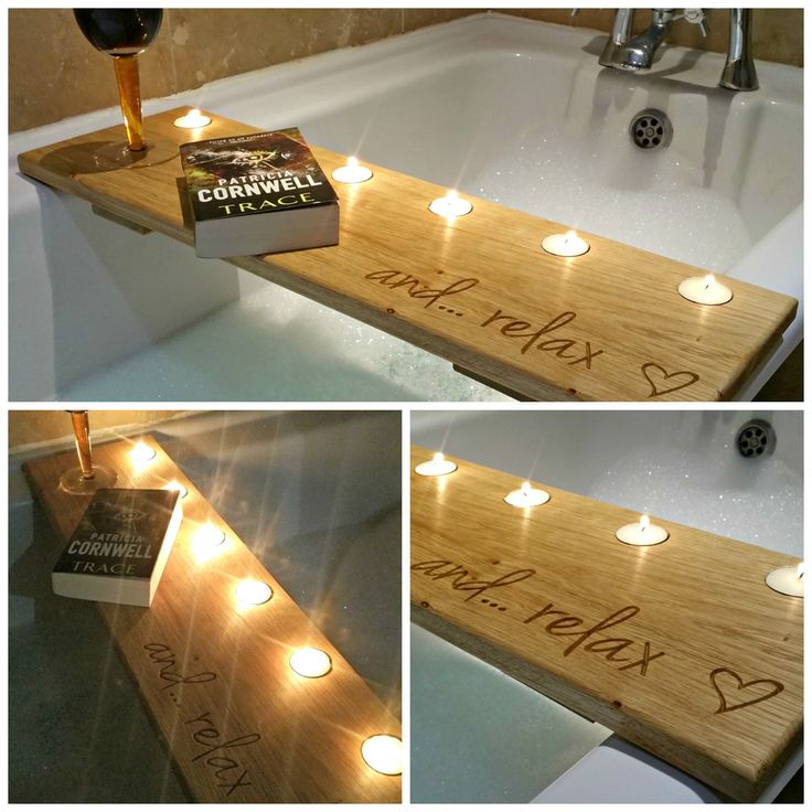 Awesome Oak Bath Caddy More