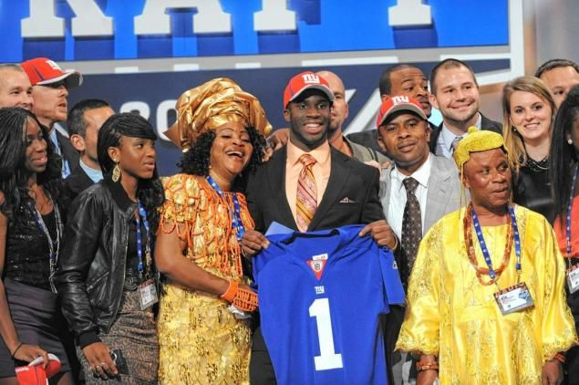 The New York Giants select DB Prince Amukamara from Nebraska in the first round during the NFL Draft Day at Radio City Music Hall.