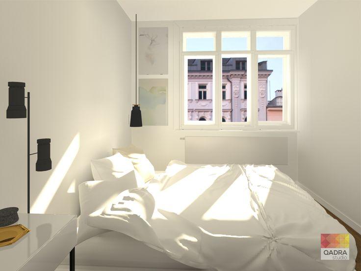 Mieszkanie w Warszawie projekt i wizualizacje: Kama Mucha QADRA STUDIO