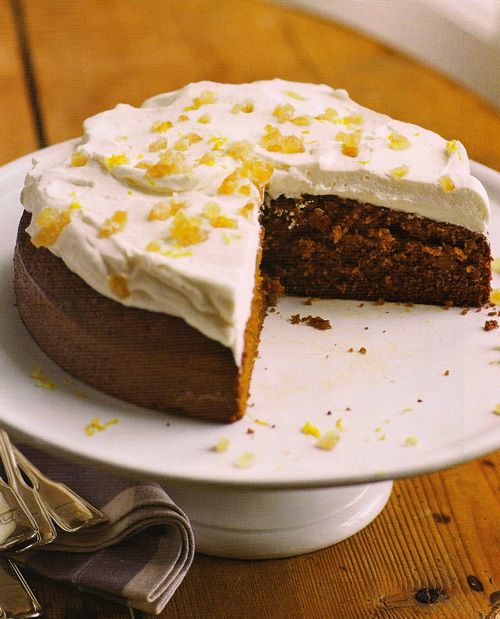 Lemon Ginger Molasses Cake from Ina Garten