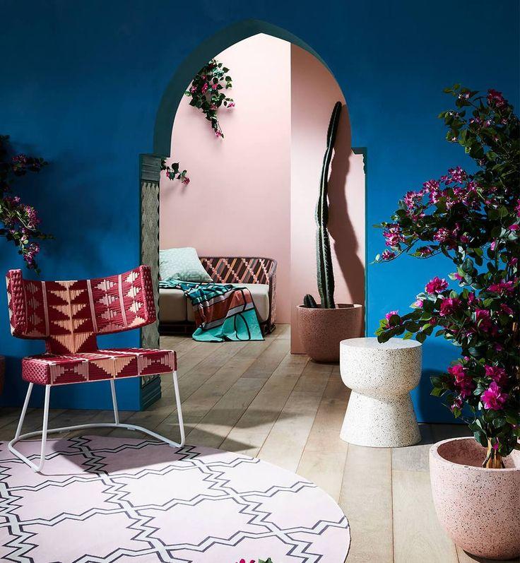 Essaouira 3-Seater Sofa - Peach / Apple Butter Multi