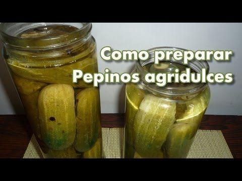Como preparar PEPINOS AGRIDULCES caseros - YouTube