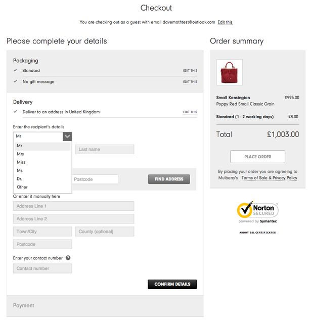 Best ECommerce Checkouts Images On   Form Design