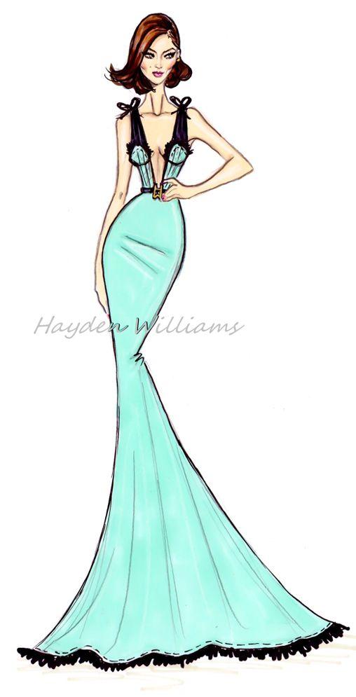 Hayden Williams for Modelinia: Color Me Model: Hayden Williams Animates Our Favorite Girls! Karlie Kloss.