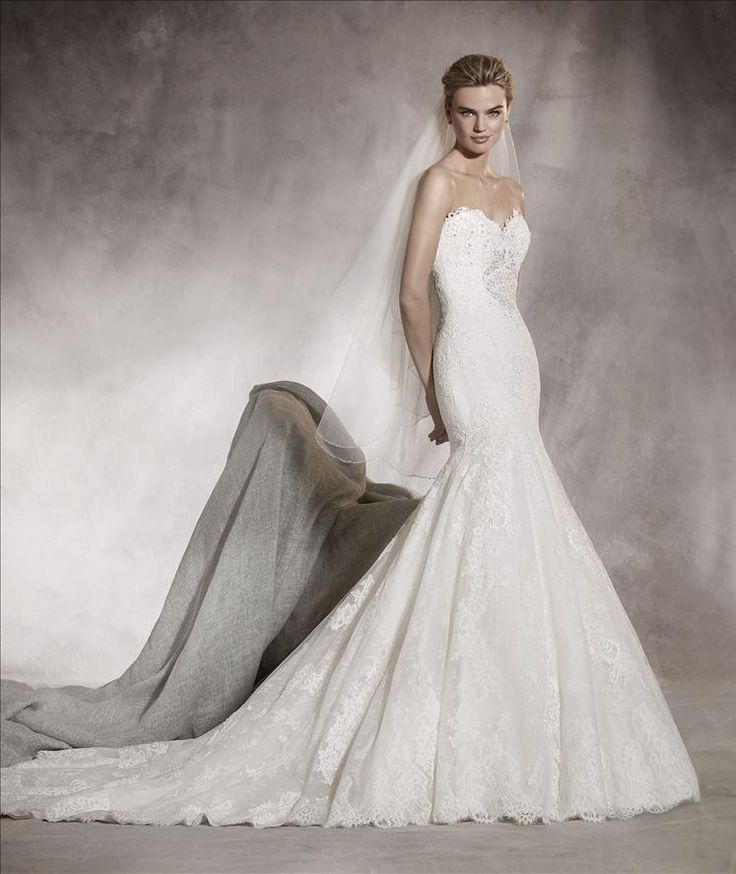 43 best Pronovias Bridal Gowns images on Pinterest | Wedding frocks ...