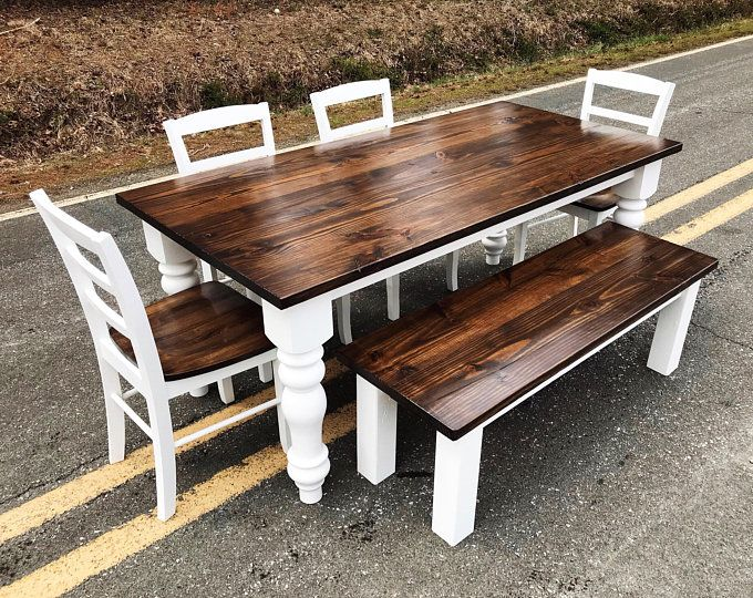 Choose Between Trestle Or Farm House Style Benches Pine Benches Free Delivery In Nc Or Va Contact For Shipping Quotes Kitchen Table Settings Refurbished Kitchen Tables Farmhouse Kitchen Tables
