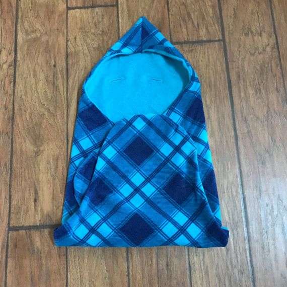 Baby swaddling blanket for car seat, infant hooded carseat blanket, fleece carseat blanket, neutral car seat blanket swaddle - READY TO SHIP