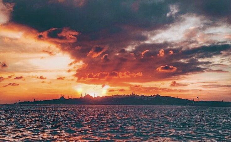 There's magic in every sunset. Where's your favorite sunset spot? I'd have to choose this one - on a boat cruising the Bosphorus