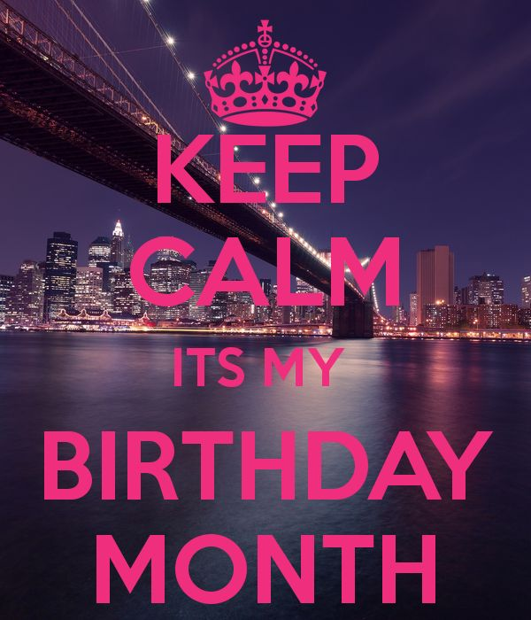 'KEEP CALM ITS MY  BIRTHDAY MONTH' Poster