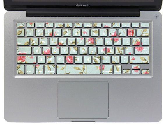 28b1a70ea034e Macbook Keyboard Decal -- Macbook Cover Keyboard Macbook Pro Decals Macbook  Air Stickers Vinyl Skin for Apple Laptop