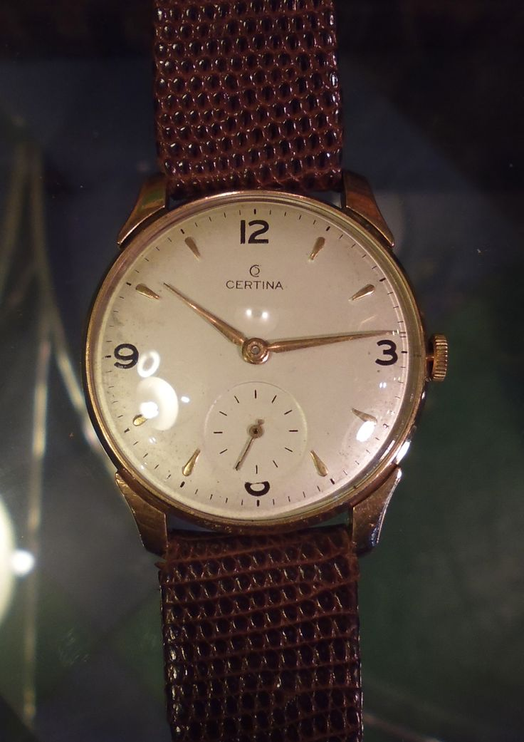 9ct Gold Certina Mens Wrist Watch Dating From The 1960 S