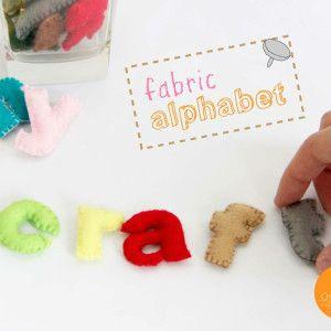 Alfabeto in pannolenci cartamodelli e tutorial