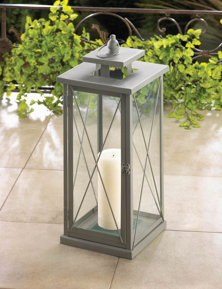 Wholesale Wedding Table Centerpiece Large Rail Road Style Candle Lantern With Clear Glass Panels