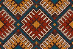 Tribal Modelo inconsútil azteca sobre la lana de textura de punto Foto sin derechos