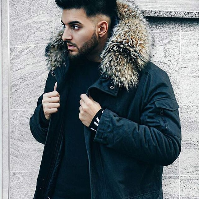 """LIKE A CAPTAIN  The one & only @apored rocks the streets in his #WeLoveFurs """"Capitano"""" #Parka.  Buy now or cry later ✌️ #mensparka #maennerparka #fur"""