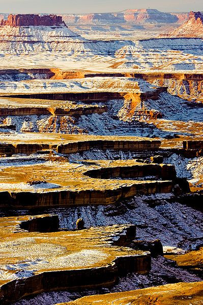 Seeing Canyonlands National Park with a dusting of snow would be awesome. #Utah