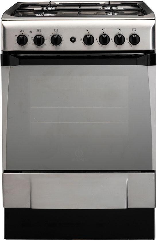 Indesit Freestanding Gas Hob Oven Stainless Steel $959.99 from Noel Leeming