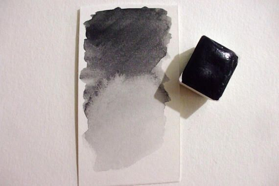 Shungite Handmade Watercolor Paint Gemstone Paint Handmade