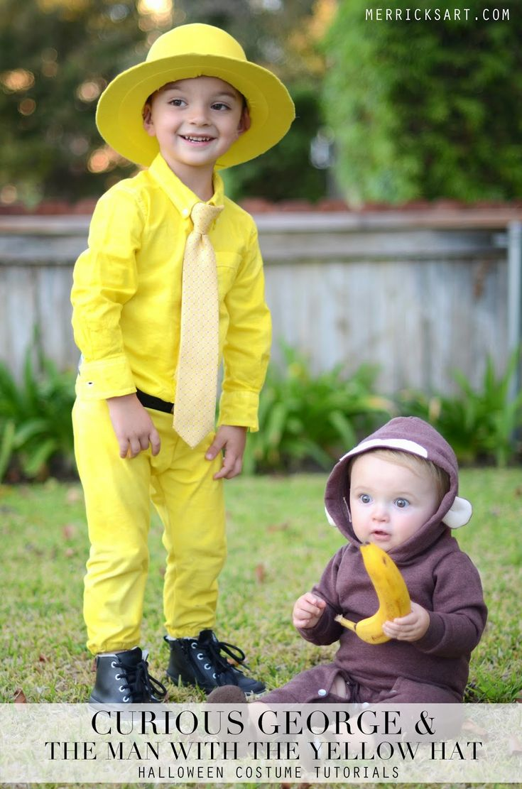 Merrick's Art // Style + Sewing for the Everyday Girl: HOMEMADE HALLOWEEN: CURIOUS GEORGE + THE MAN WITH THE YELLOW HAT