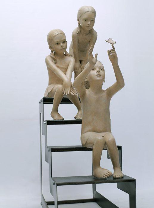 bezit Hildre Sculpteur - petite fille -Galerie Sakah