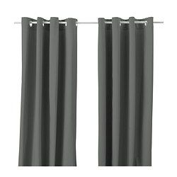 "IKEA - MERETE, Curtains, 1 pair, 57x118 "", , The thick curtains darken the room and provide privacy by preventing people outside from seeing into the room.The eyelet heading allows you to hang the curtains directly on a curtain rod.Effective at keeping out both drafts in the winter and heat in the summer."