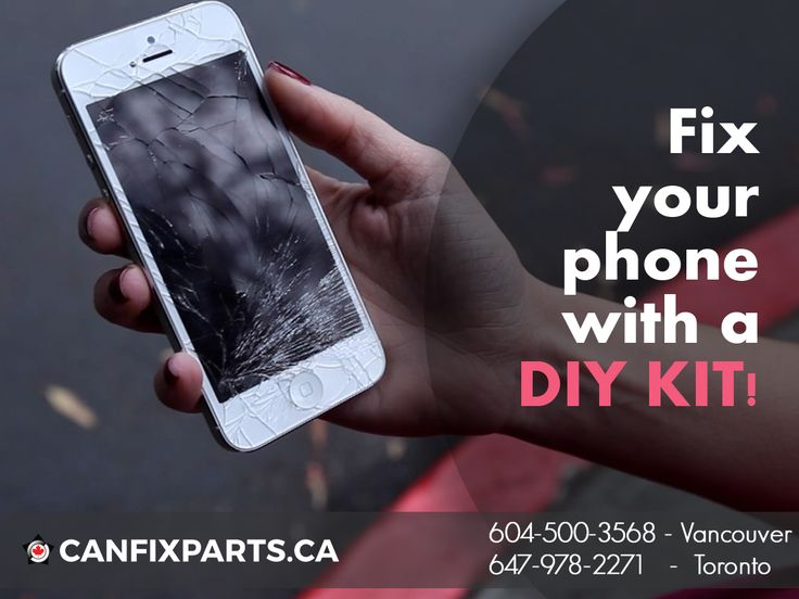 Cracked your #phone's screen? Get a DIY Kit to fix it! CanFixParts can help you. Visit: www.canfixparts.ca / +1 647-860-2271 #Canada