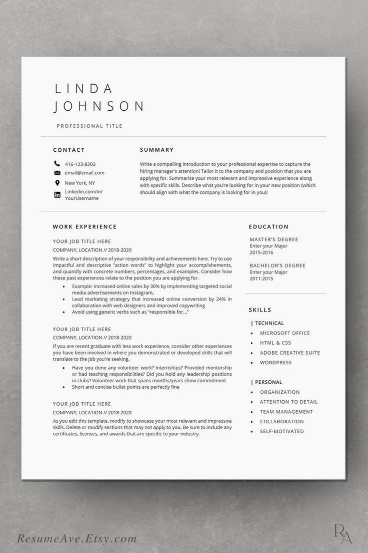Resume Template Cv Template Professional And Creative Resume Design Cover Letter For Ms Word In 2020 Resume Examples Resume Tips Basic Resume Examples