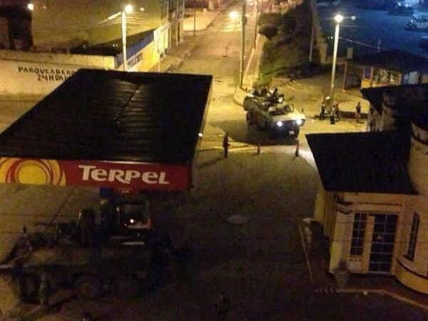 Más fotos de los tanques cascabel en Tunja! (Vía @josefeur) INCREIBLE!