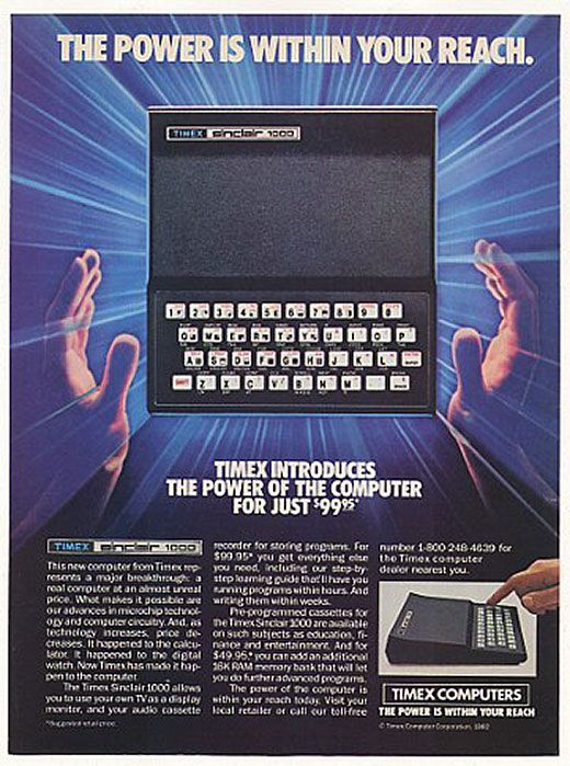 Timex Sinclair 1000 for just u$s 99,95.- A Super #Retro Ad! #Geek