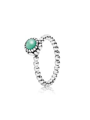 Chrysoprase May Birthstone Ring. The birthstone of May is the beautiful green chrysoprase. Chrysoprase is thought to encourage love and tolerance and is used to promote friendship.
