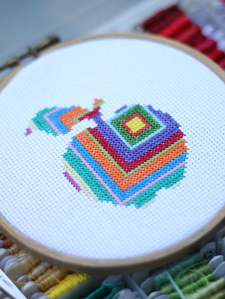 teacher appreciation counted cross stitch pattern