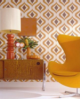 2. Vintage retro oranje