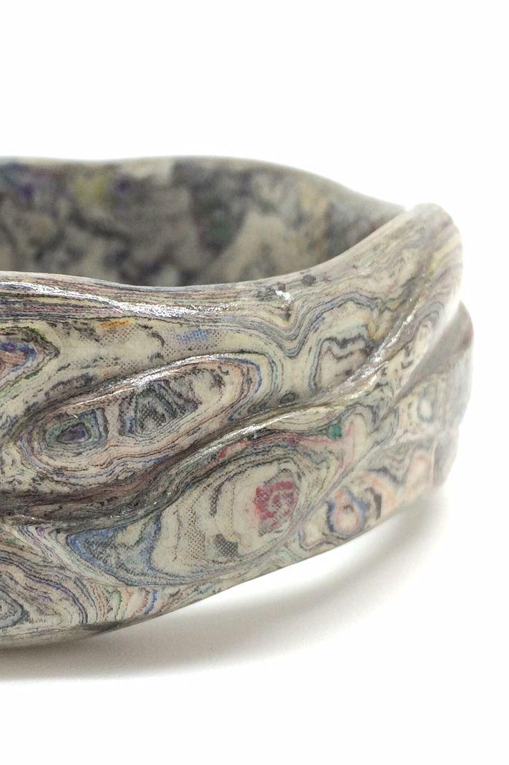 Carved paper bangle by Dani Crompton Designs #www.dani-c.co.uk