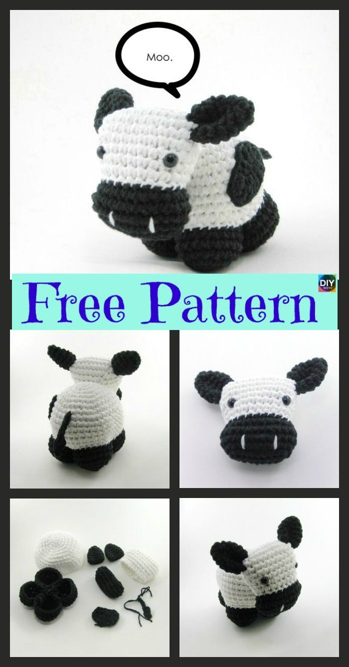 Cow Amigurumi - MooMoo Cow - Free Crochet Pattern | Craft Passion | 1338x700