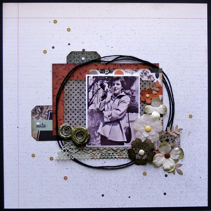 """Created by Elizabeth for a Crafty Daze class. This layout uses the Kaisercraft """"Mr Fox"""" paper range."""