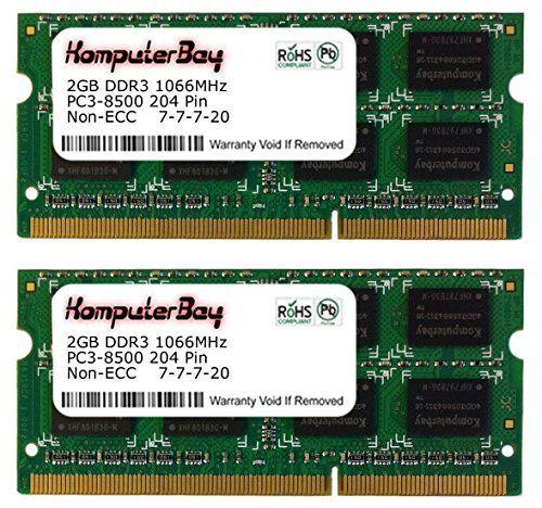 Komputerbay 4GB Kit (2 X 2GB) DDR3-1066 (PC3-8500) RAM Memory Upgrade For Apple Mac Mini Core 2 Duo 2.0/2.26/2.5 No description (Barcode EAN = 5052396417110). http://www.comparestoreprices.co.uk/december-2016-4/komputerbay-4gb-kit-2-x-2gb-ddr3-1066-pc3-8500-ram-memory-upgrade-for-apple-mac-mini-core-2-duo-2-0-2-26-2-5.asp