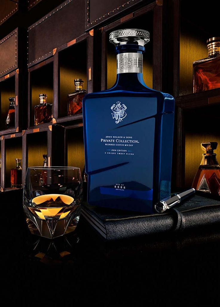 Glass bottle of John Walker & Sons Private Collection 2014 Edition whisky