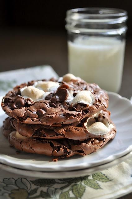 Gooey Rocky Road Cookies - no flour - no butter