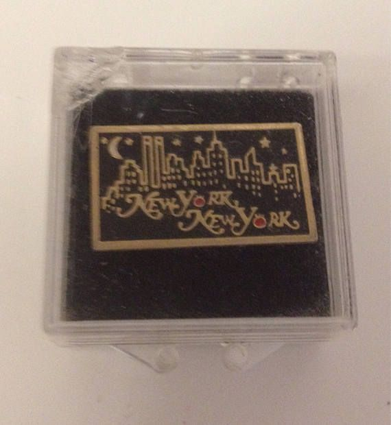 New York City Pin NYC by night late 1980s