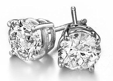 Platinum Round Diamond Stud Earrings (9/10 ctw, G-H color, I-1 clarity) Diamond Stud Source. $1400.00. Certified Diamonds. Certificate available.. Packaged in sturdy wooden box with elegant wrapping and gift card, ready to be presented. Full Year Warranty. Free Overnight Shipping. No-Risk 45 Day Trial. Save 43% Off!