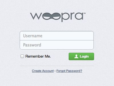 Very simple login form Dribbble: http://drbl.in/dZqj