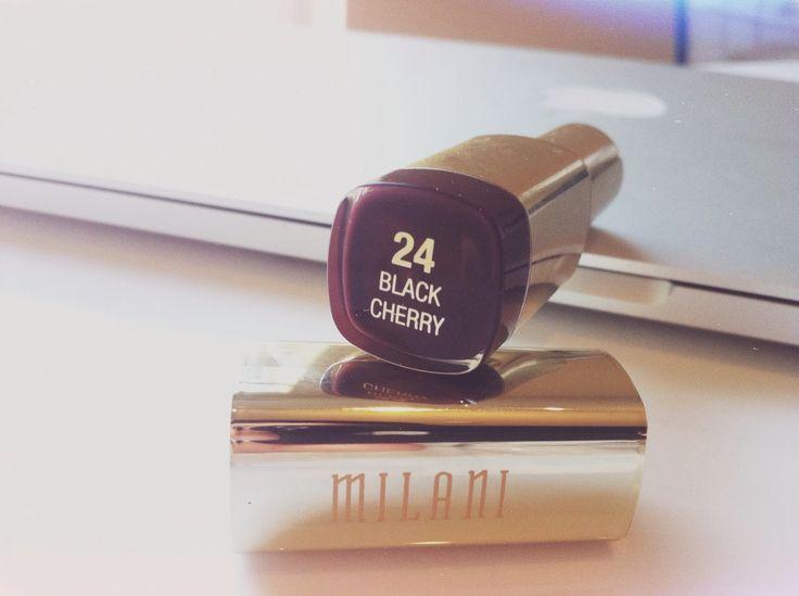 The Lipstick Pantry: Tis' the season for Milani BLACK CHERRY lipstick-R...