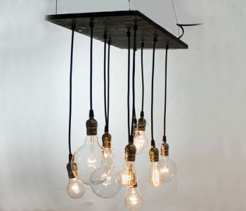 Exposed Bulb Chandelier