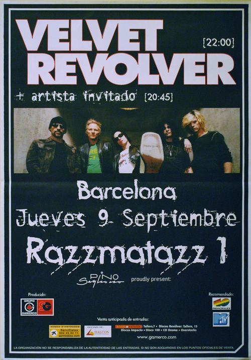 CLASSIC POSTERS: Velvet Revolver, Barcelona 2004