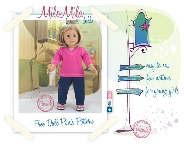 Free Pants Pattern for american girl dolls    ** BTW **    I've made this and it works great!!